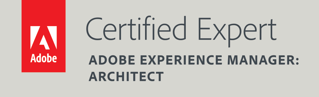 Adobe Certified Expert AEM Architect Badge