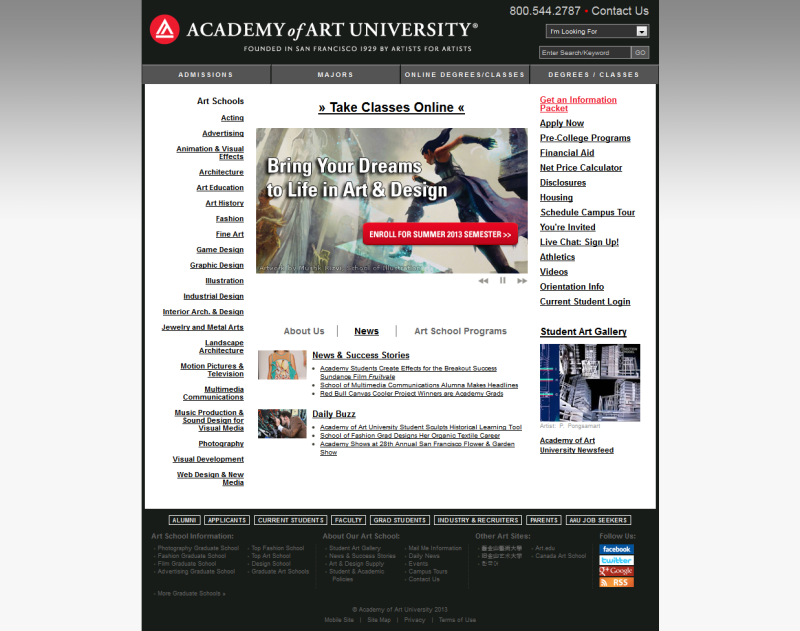 Academy of Art University - Course Content Management Implementation