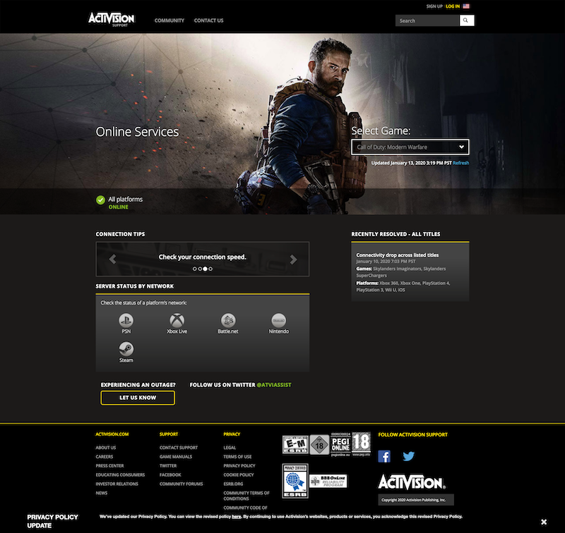 Activision - Online Services