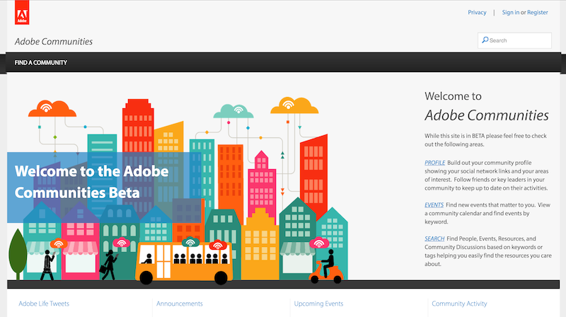 Adobe - Social Community Implementation