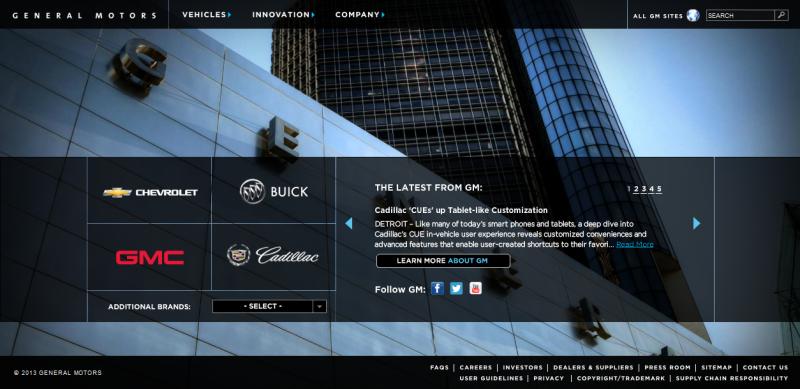 General Motors - WCMS Enhancement