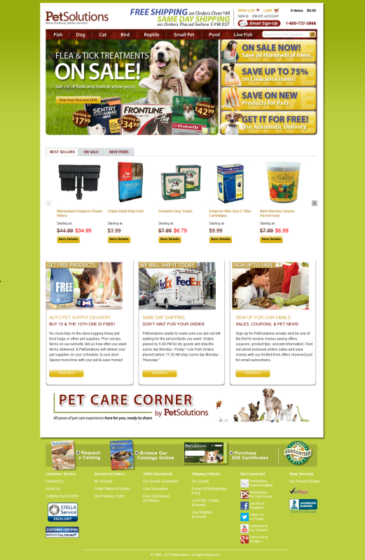 PetSolutions - E-Commerce Site