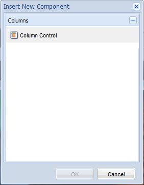 Insert a Column Control