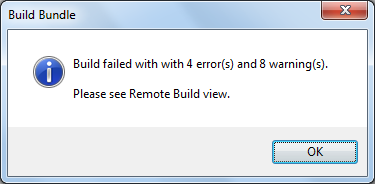 CRXDE Build Failure Popup