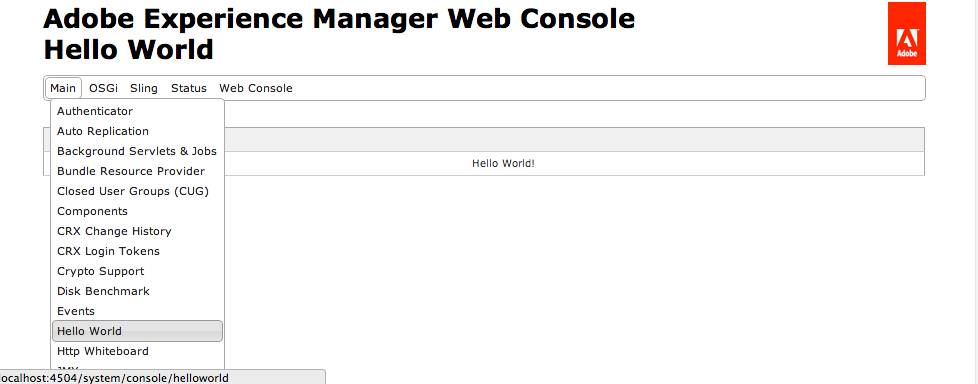 Web Console Plugin Screen