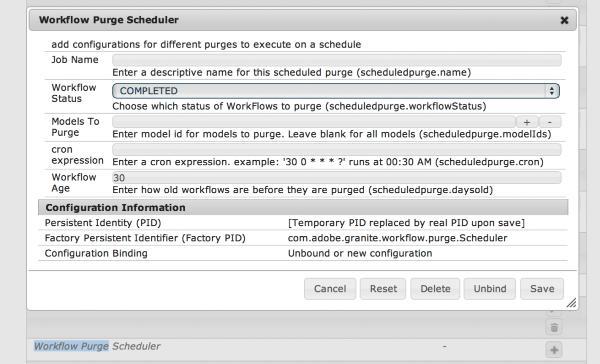 New in AEM 5.6.1: Workflow Purge Scheduler