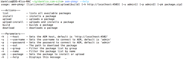 Managing AEM Packages from the CLI