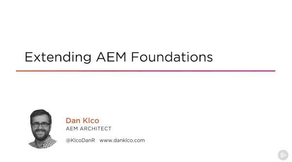 Pluralsight Course: AEM Foundations