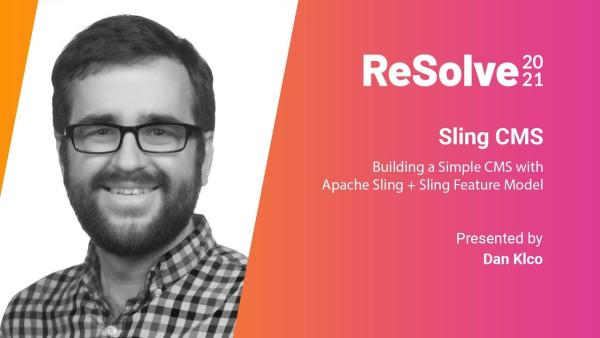 ReSolve 2021 Presentation: Sling CMS